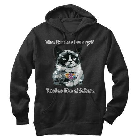 Grumpy Cat Men's Tastes Like Chicken - Chicken Hoodie
