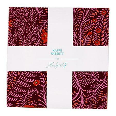 Free Spirit Fabrics Kaffe Fassett Collective Lipstick Ten Inch Charm Pack 42 Fabrics (Free Spirit Mesh)
