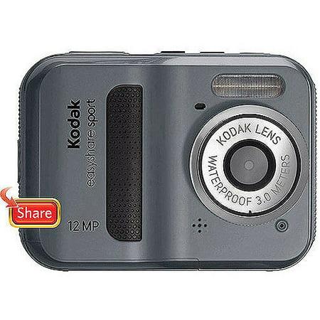 kodak easyshare sport c123 grey 12mp digital camera 2 4 lcd
