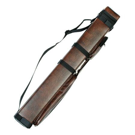2x2 Hard Billiard Stick Pool Cue Carrying Case Brown 2 X