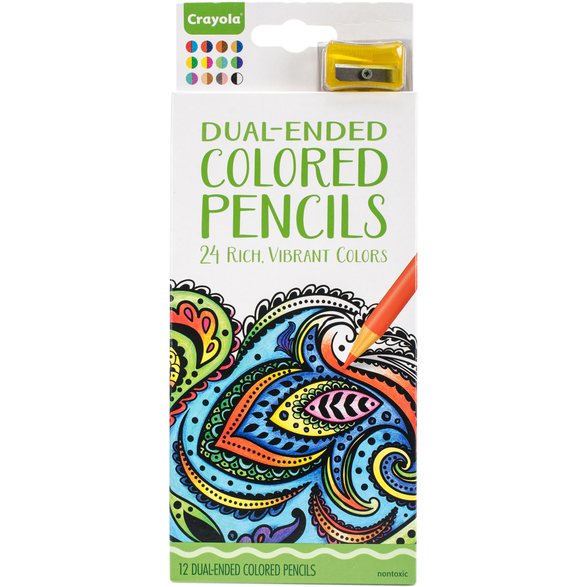 Crayola 12 Count Dual Ended Colored Pencils Set by Crayola