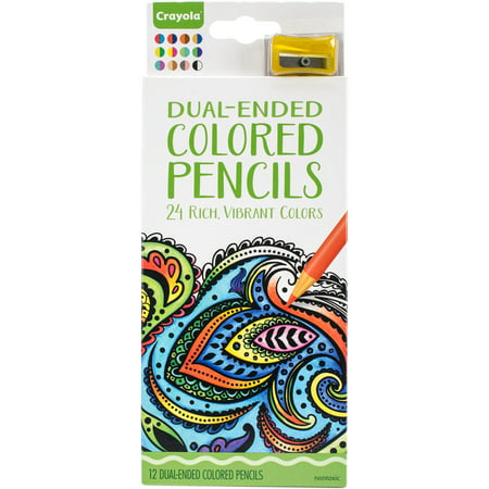 Crayola Dual Ended Colored Pencils, 12 - Crayola 100 Colored Pencils