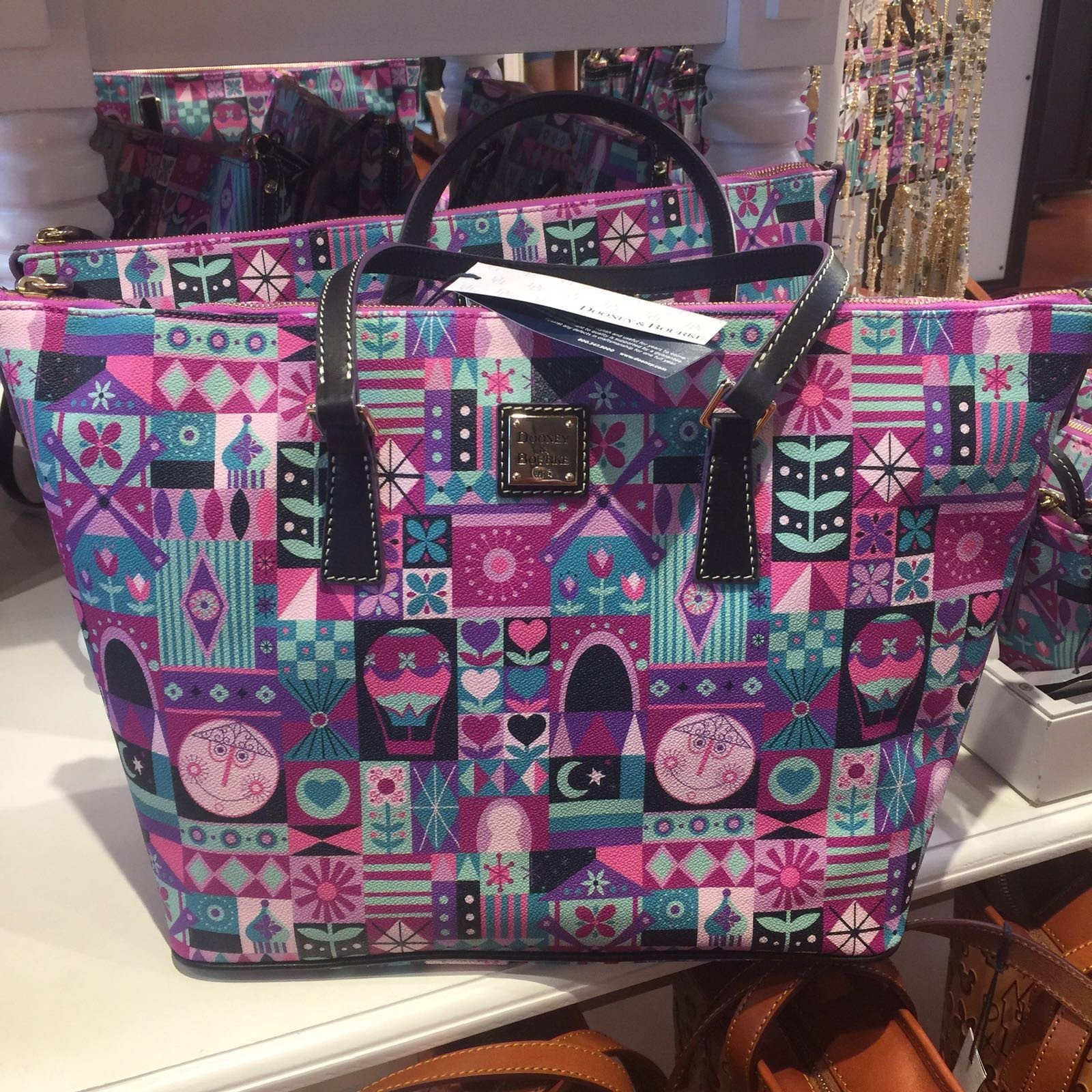 Catherines Disney It's a Small World Tote Shopper by Doon...
