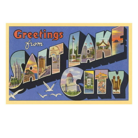 Greetings from Salt Lake City, Utah Print Wall Art - Party City Salt Lake City