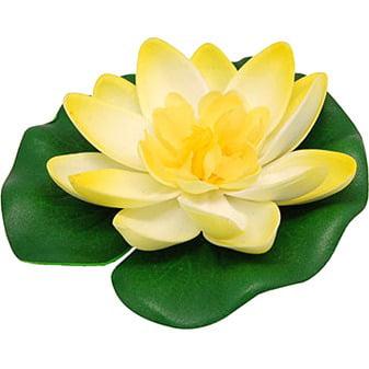 uxcell Beautiful Foam Ornament Lotus Plants for Fish Tank Aquarium