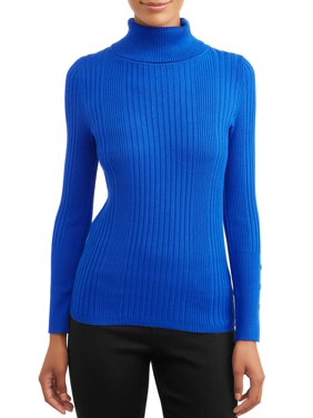 Time and Tru Women's Ribbed Turtleneck Sweater