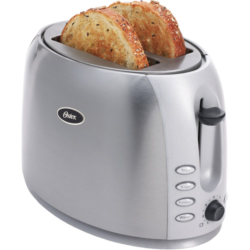 Oster 2-Slice Toaster, Brushed Stainless Steel