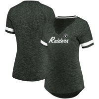 Oakland Raiders Majestic Women's Through Thick or Thin V-Neck T-Shirt - Charcoal