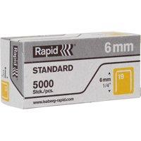 """Rapid, RPD23391100, R23 No.19 Fine Wire 1/4"""" Staples, 5000 / Box, Gray"""