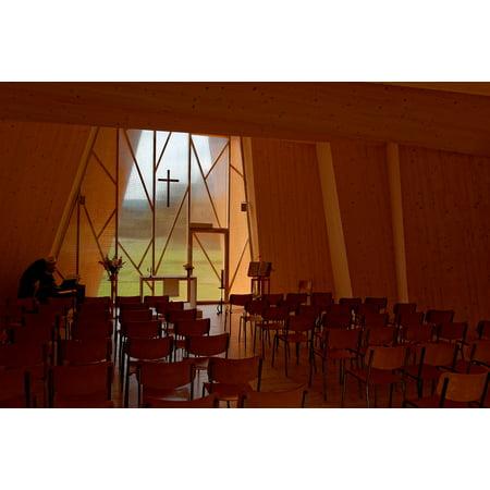 Pic Saint Loup (Canvas Print Switzerland Saint Loup Chapel Chapelle Architecture Stretched Canvas 10 x 14)