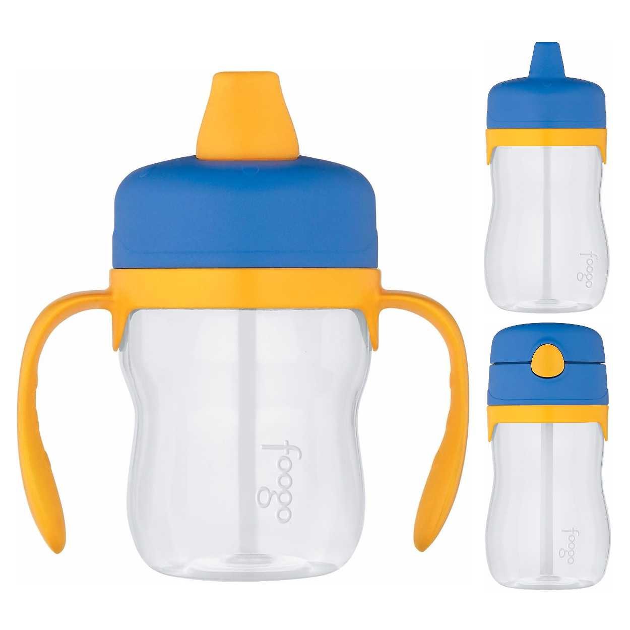 Thermos Foogo 8oz & 11oz Sippy Cups w/ 11oz Straw Bottle (Blue/Yellow)