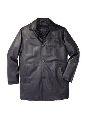 Kingsize Men's Big & Tall Leather Car Coat