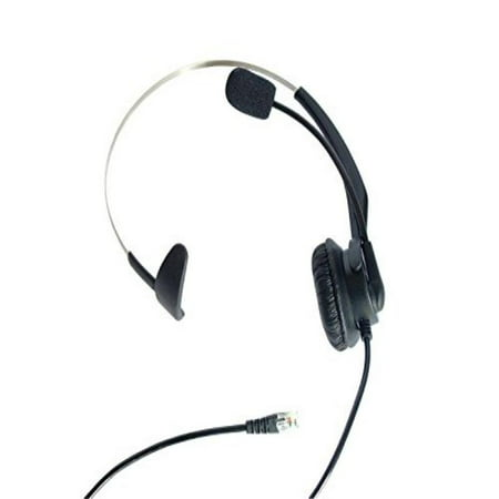 Usb 20 Ip Phone (LotFancy Calltel Monaural Over-The-Head Headset Headphone with Mic for Cisco IP Phone 7931 7940 7941 7942 7945 7960 7961; Plantronics Vista Modular Adapter M10 M12 M22 MX10; Coiled Cord with RJ9 Plug )