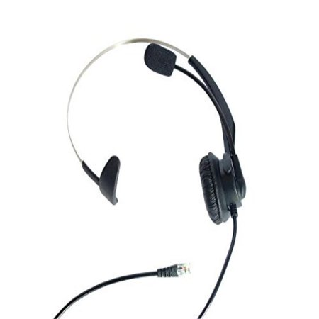 3.5 Mm Headset Adapter Microphone - LotFancy Calltel Monaural Over-The-Head Headset Headphone with Mic for Cisco IP Phone 7931 7940 7941 7942 7945 7960 7961; Plantronics Vista Modular Adapter M10 M12 M22 MX10; Coiled Cord with RJ9 Plug