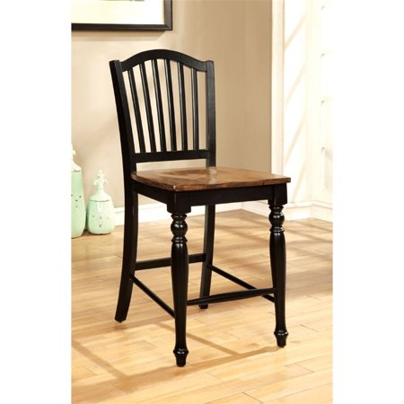 Furniture Of America Sallie 24 25  Counter Stool In Black  Set Of 2
