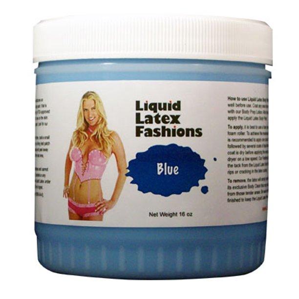 Blue latex body paint