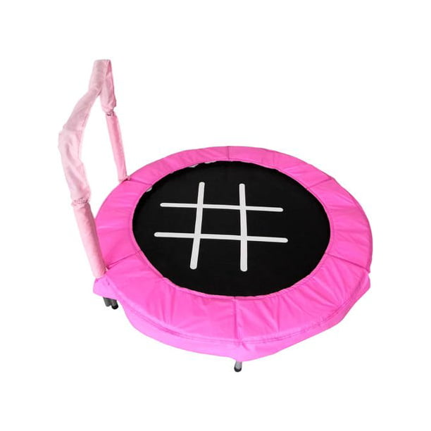 JumpKing Trampoline 4-Foot Bouncer for Kids, Pink Tic-Tac-Toe
