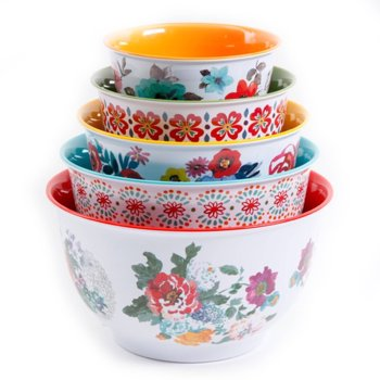 The Pioneer Woman Country Garden Nesting Mixing 10-Pc. Bowl Set