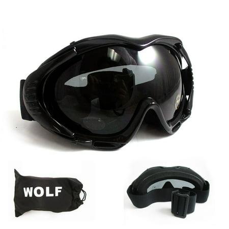 Black Wolf Halloween Contact Lenses (ATB Ski Snow Goggles Snowboard Lens Glasses Skiing Sun Sports Adult Unisex)