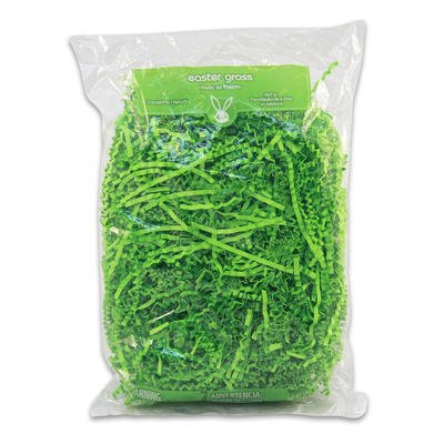 2oz Easter Green Pastel Color Grass - Paper Easter Grass