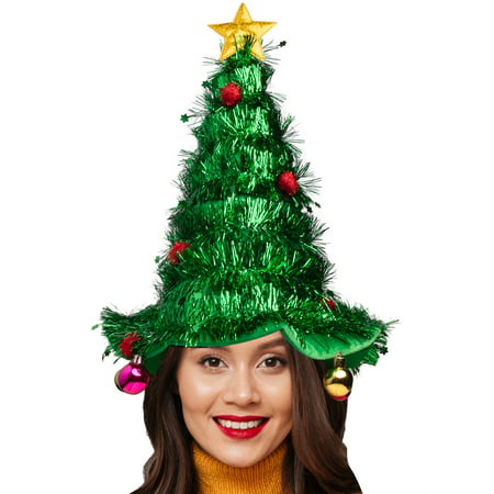 Simply Genius Christmas Tree Hat Holiday Party Supplies Gag Gifts for Men Funny Gifts for Women Christmas Ornaments Hat ()