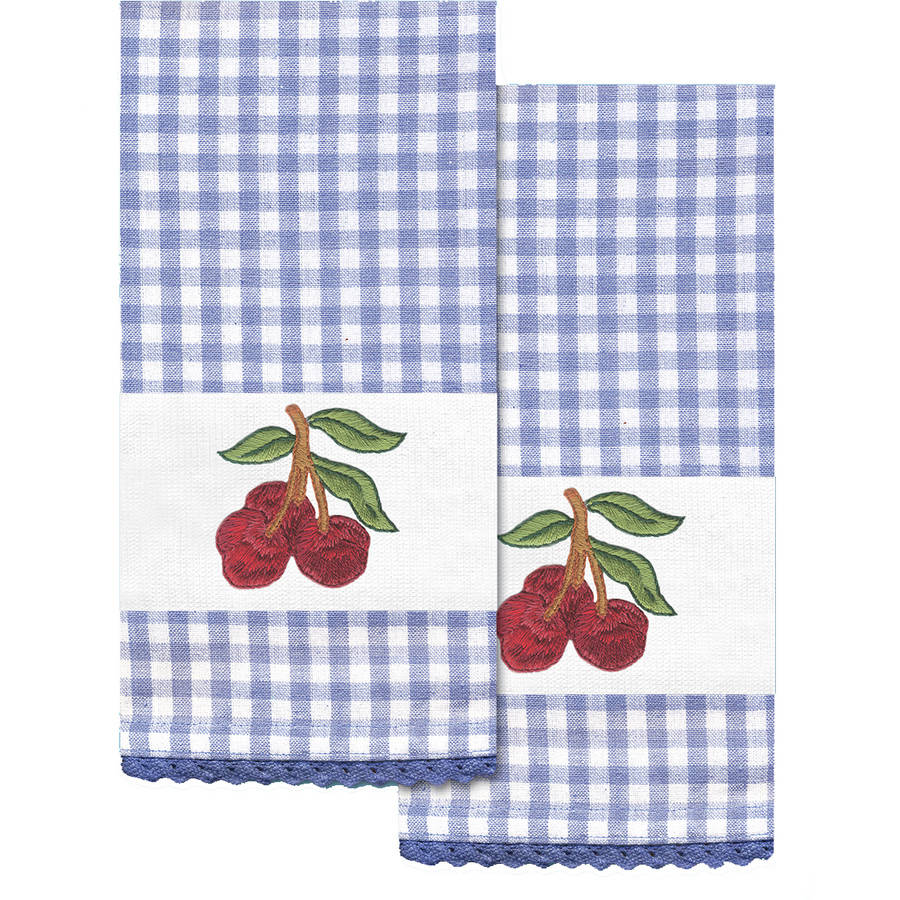 """Stamped Kitchen Towels For Embroidery, 16"""" x 28"""", 2pk"""