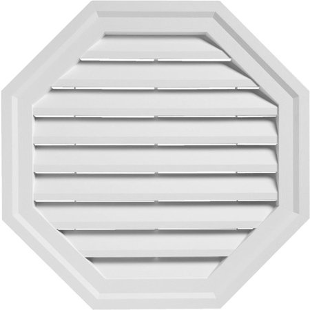 "Alcoa Home Exteriors 18"" White Oct Gable Vent OCTGV18 PW"