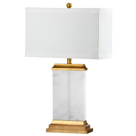 Alabaster Table Lamp - Safavieh Delilah 26.75 In. High Alabaster Table Lamp, White