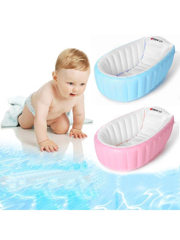 Portable Baby Bathtub Kids Toddler Inflatable Bathtub Newborn Bathtub Thick Bathing Folding by