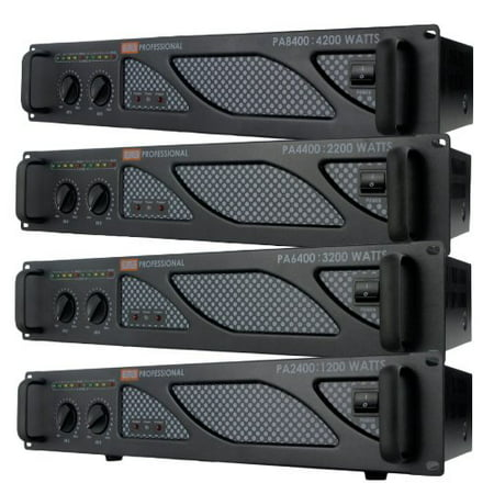 EMB Pro - PA6400 - Rack Mount Professional Power Amplifier - 3200 Watts Pro Professional Rack