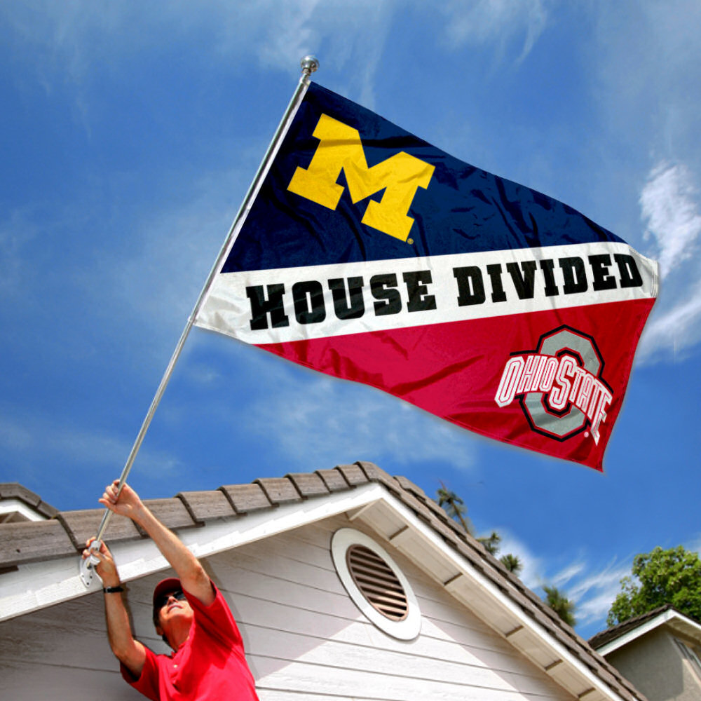 Ncaa Michigan Vs Ohio State House Divided 3x5 Flag Walmart Com Walmart Com
