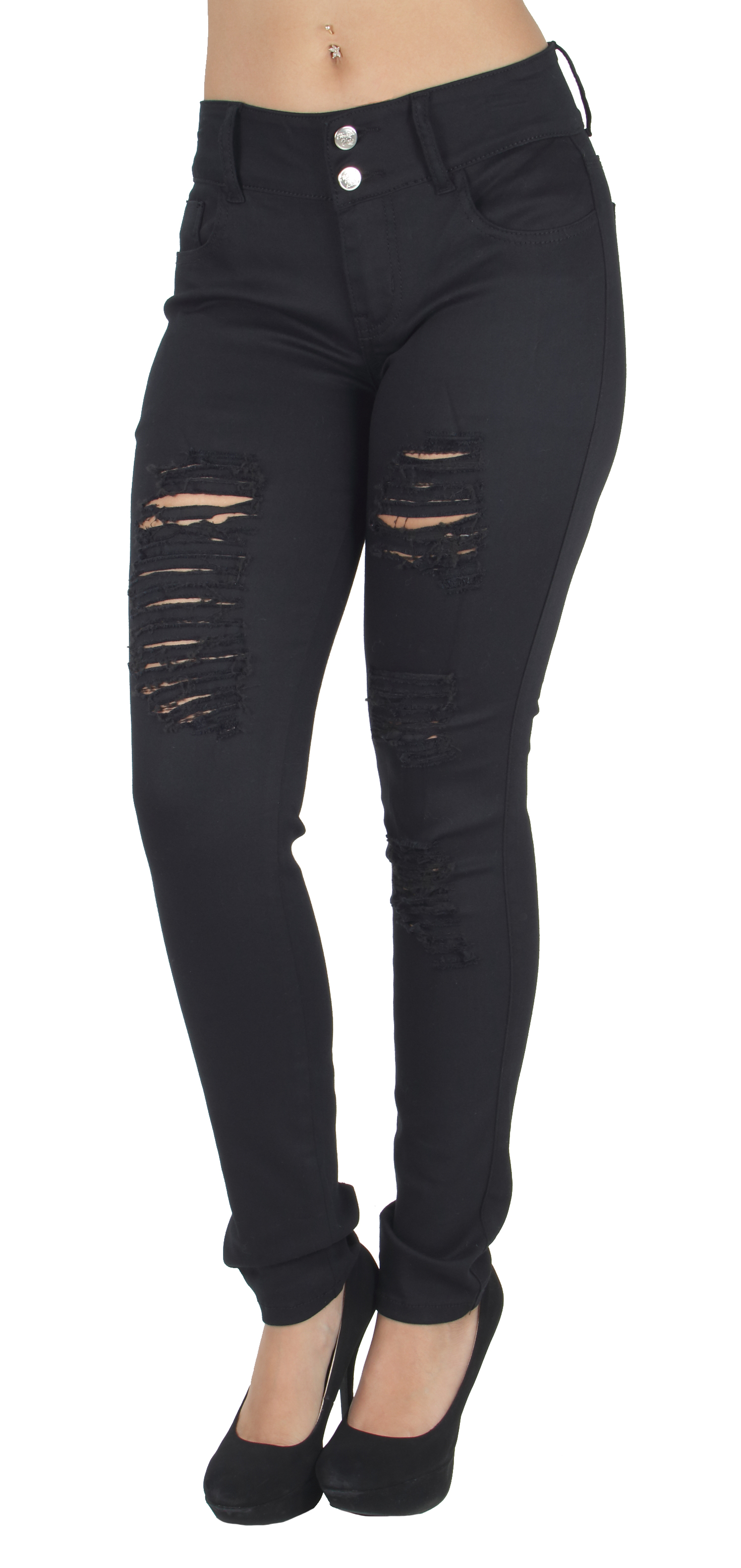 WG0209HR-P  Plus Size Fashion Colored Jeans, Destroyed Ripped Sexy Skinny Jeans