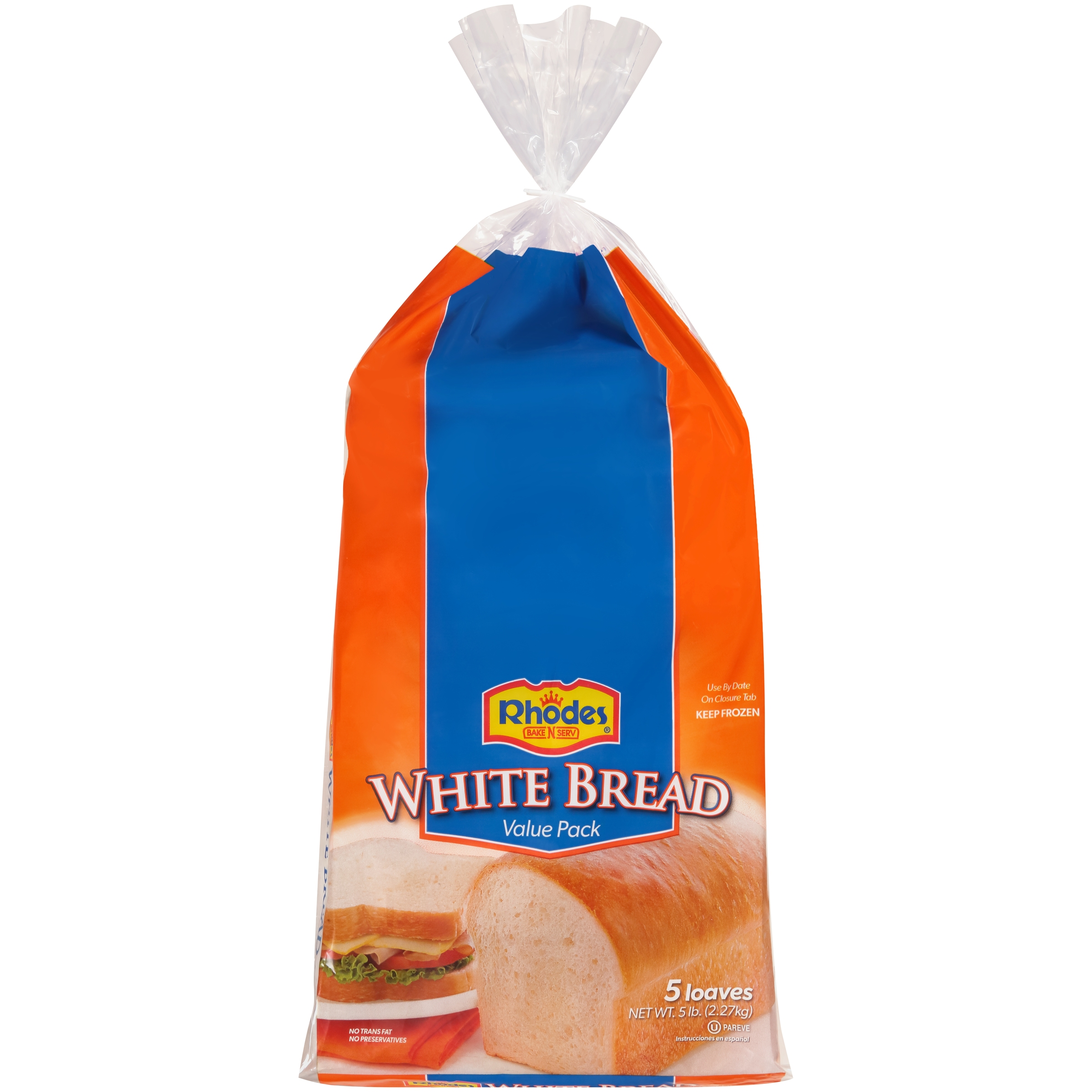 Rhodes Bake-N-Serv® Frozen White Bread Dough 5 lb. Bag