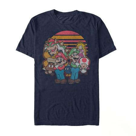 Nintendo Men's Super Mario Retro Friends T-Shirt