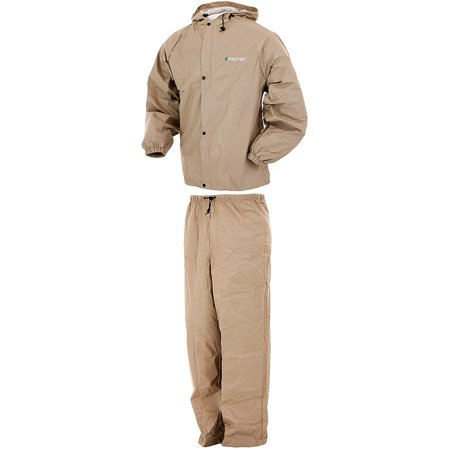 Frogg Toggs Pro Lite Waterproof Rain Suit, Khaki, Size Small/Medium