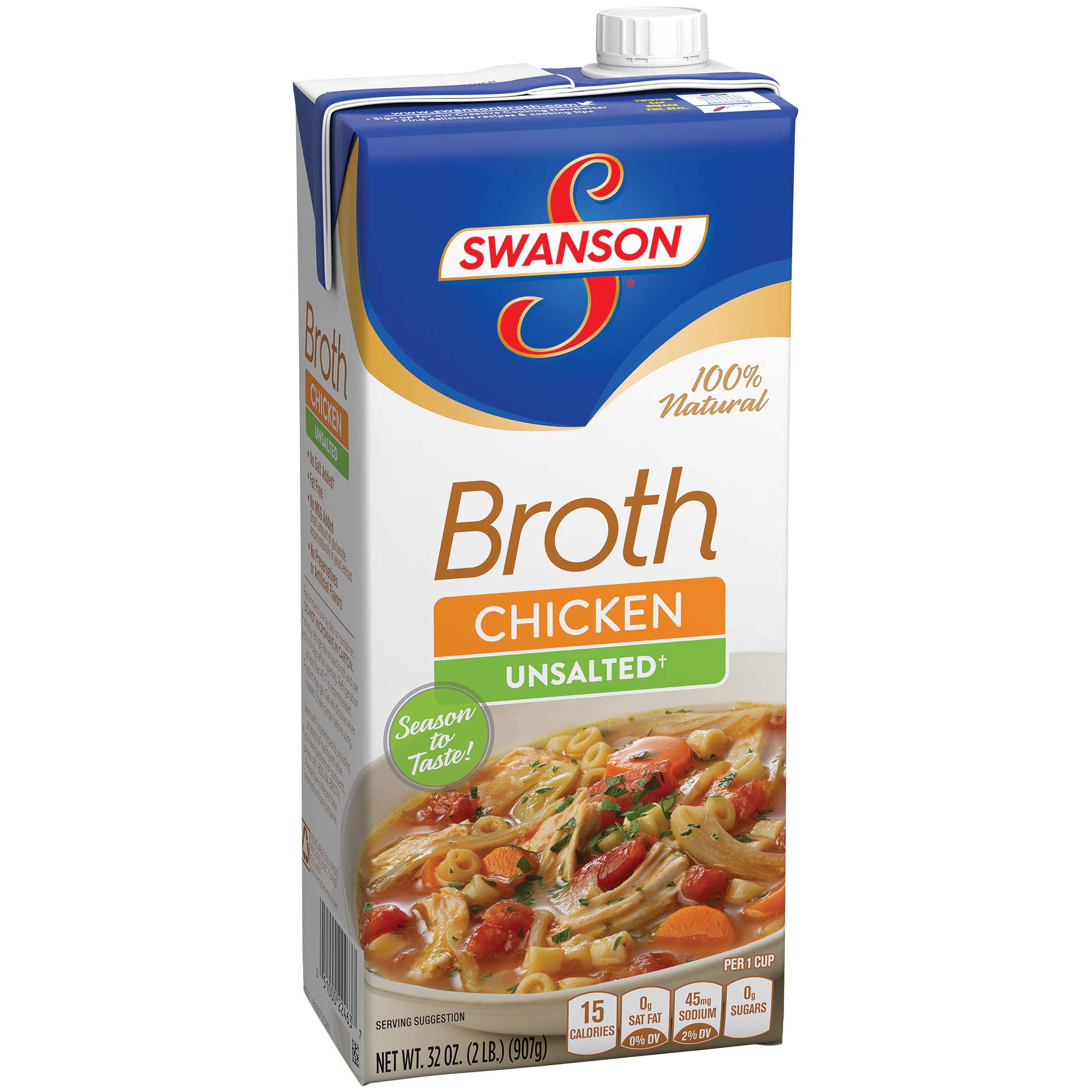 Swanson Unsalted Chicken Broth 32oz