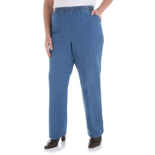Chic Women's Plus-Size Pull-On Pants, Available in Regular and Petite Lengths