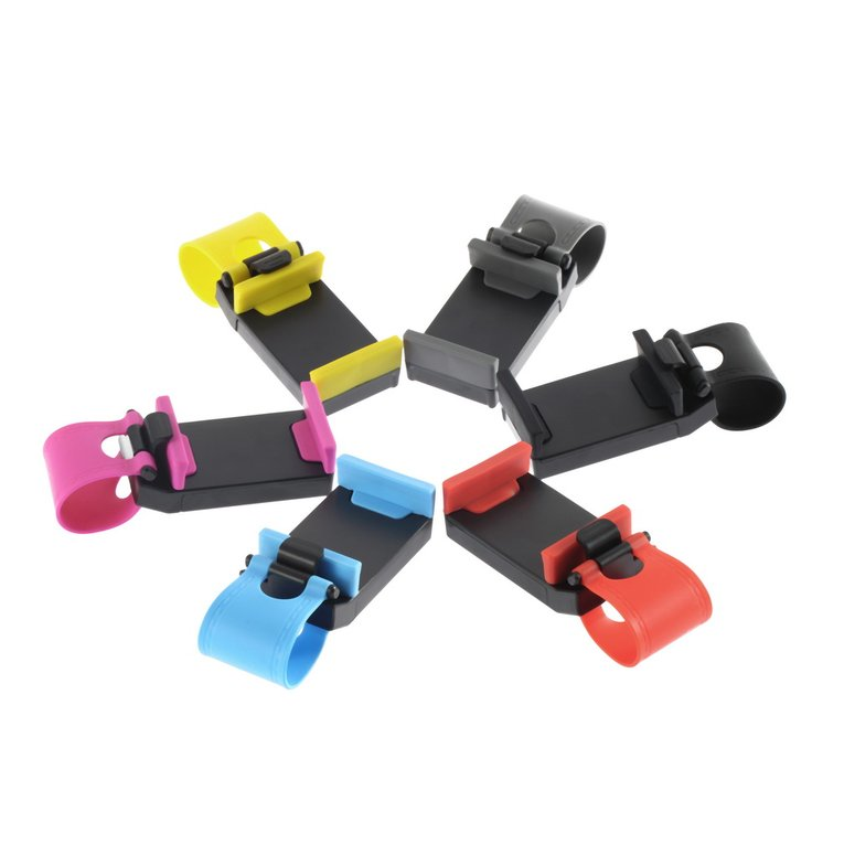 Car Steering Wheel Clip Phone Camera Holder ABS Bracket Mobile Phone Stand