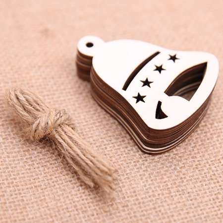 10 Pieces DIY Wooden Pendant Ornaments for Christmas Tree and Party Decorations - Diy Paper Christmas Decorations