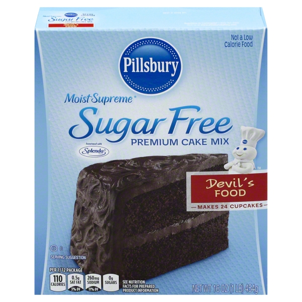 Pillsbury Moist Supreme Devil's Food Sugar Free Cake Mix, 16 oz