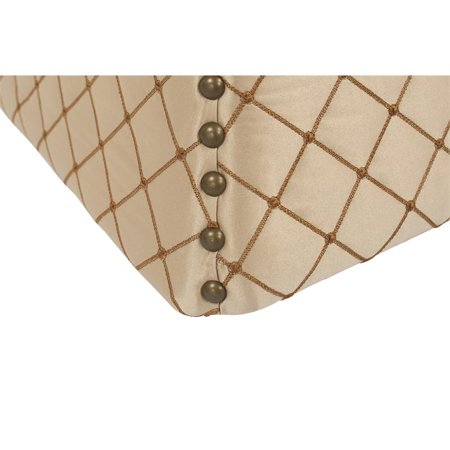 Holly Concaved Storage Ottoman Brown - image 1 of 6