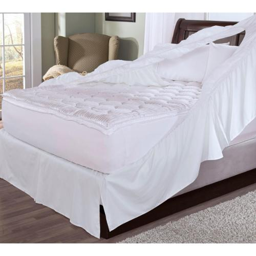 Rest Remedy Easy-on Bedskirt and Box Spring Protector Twin White