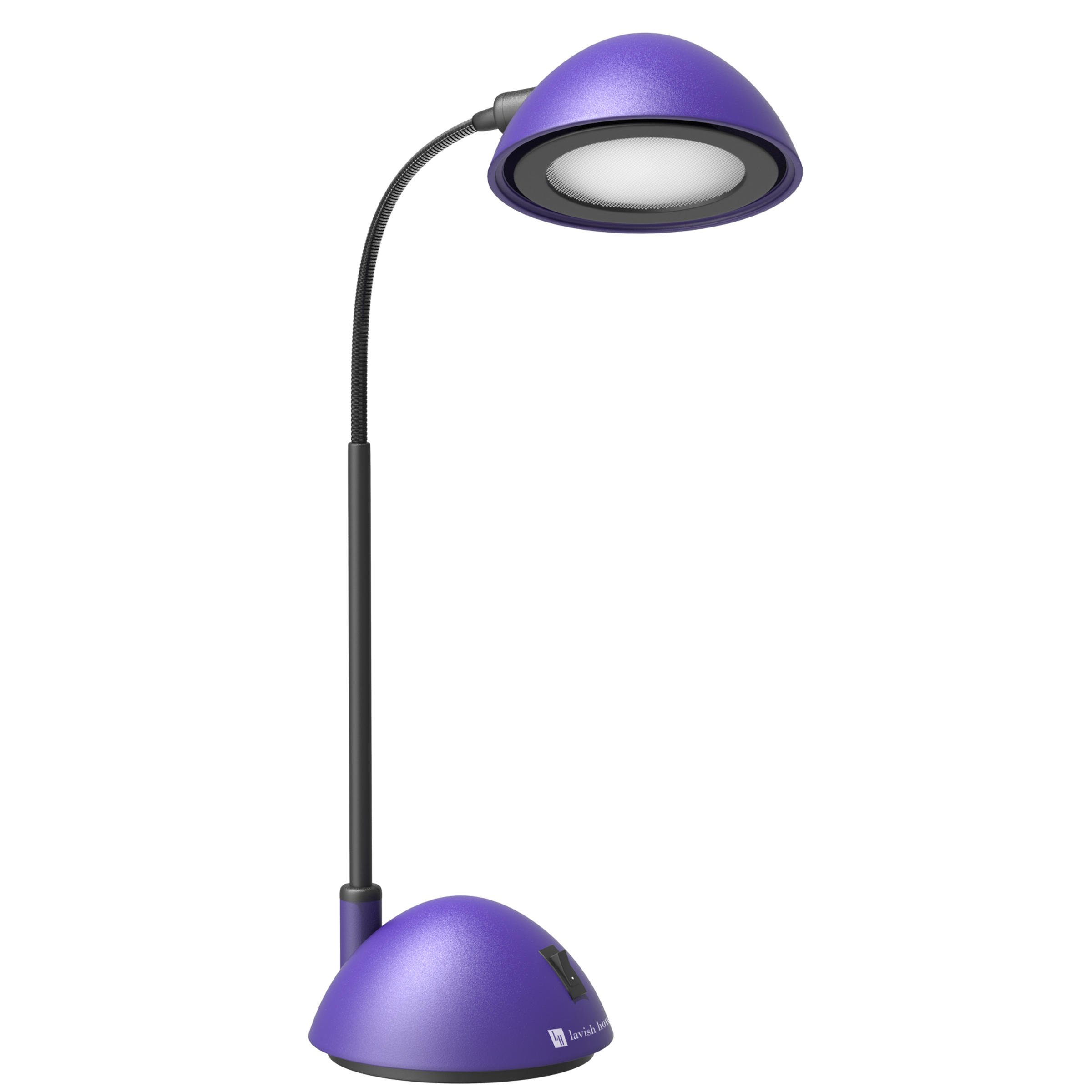 Desk Lamp Adjustable Gooseneck for Reading, Crafts, Writing- Modern Design Light for Bedroom, Home, Office, and Dorm by... by Trademark Global LLC