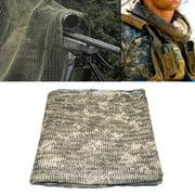 "SNIPER VEIL Net Face Head Hood Scarf Gear Cover Camo 44""x35"" - ACU Digital"