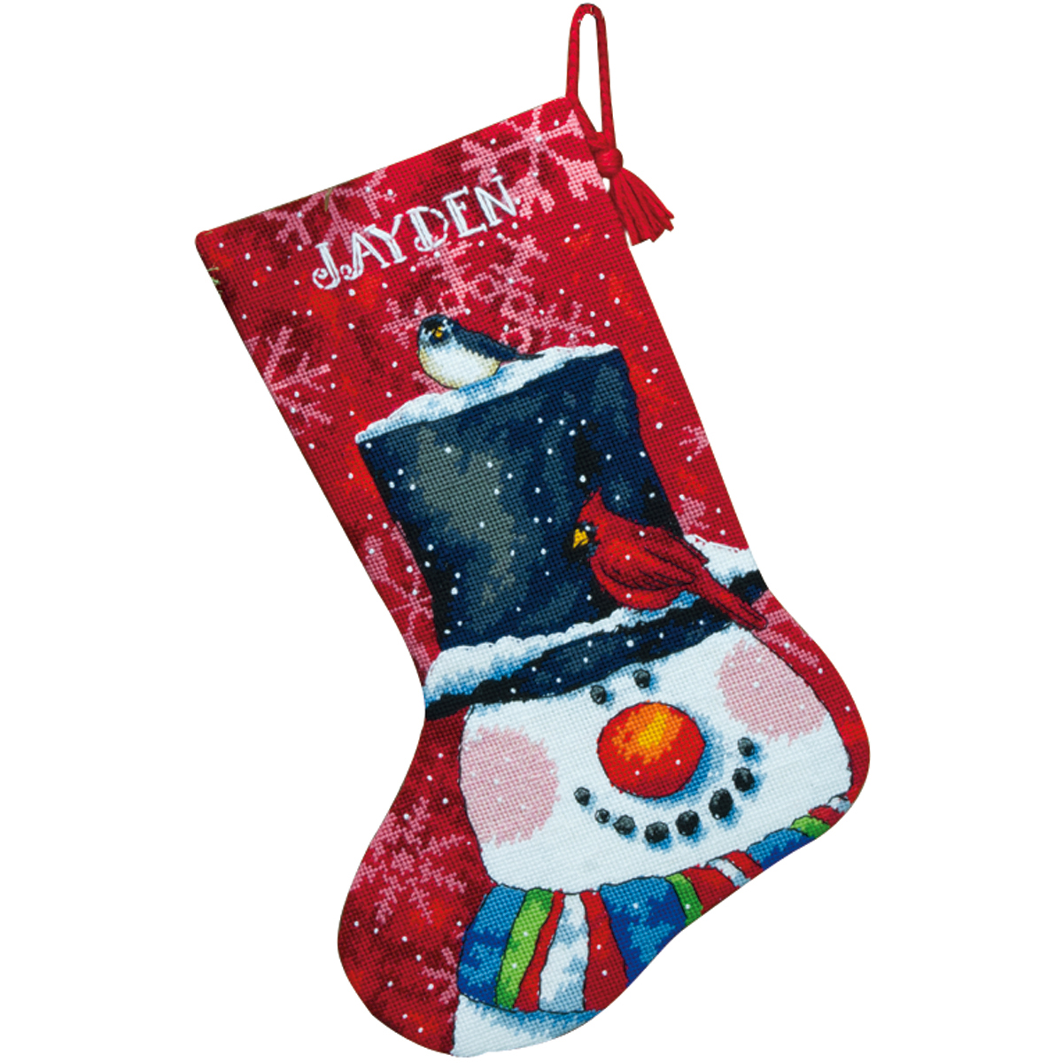 Dimensions Snowman and Friends Needlepoint Stocking Kit