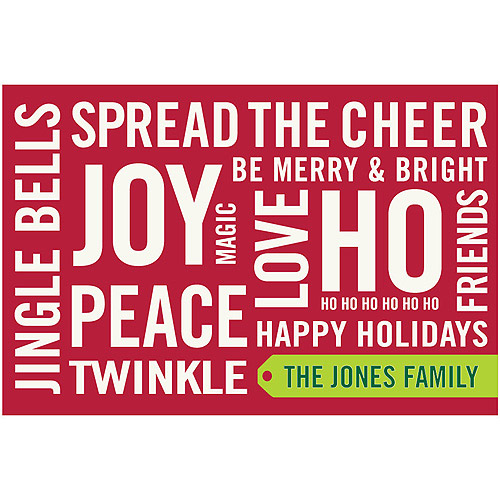 Personalized Warm Holiday Wishes Canvas Wall Art