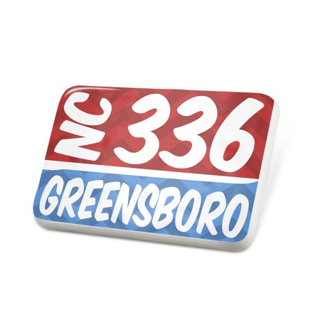 Porcelein Pin 336 Greensboro, NC red/blue Lapel Badge – - Party City In Greensboro Nc