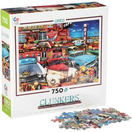 "Ceaco® Rusty Shimmer Clunkers 24"" x 18"" (61cm x 46cm) Puzzle 750 pc. Box"