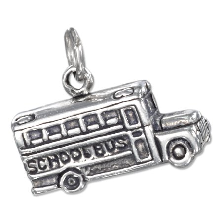 STERLING SILVER ANTIQUED THREE DIMENSIONAL SCHOOL BUS CHARM 3 Dimensional Frog Charm