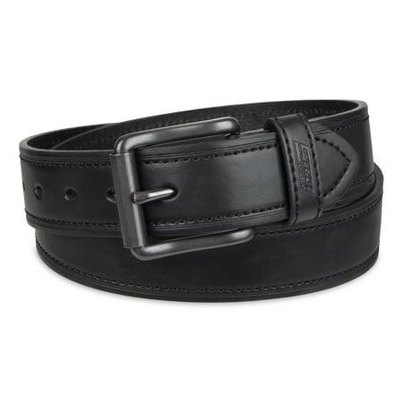 Genuine Dickies Men's Leather Work Belt with Polished Nickel Buckle